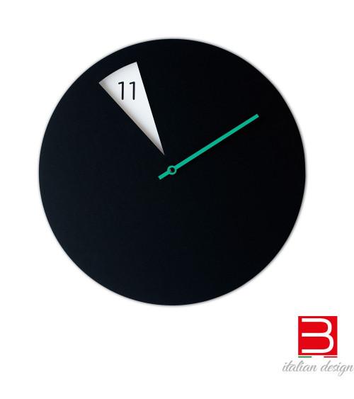 Wall clock Sabrina Fossi FreakishCLOCK black-green