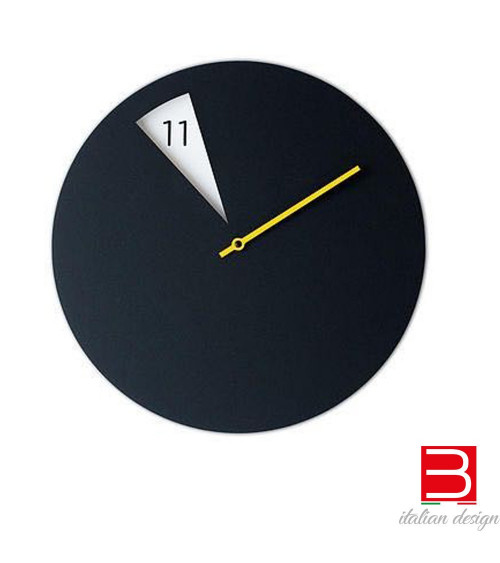 Wall clock Sabrina Fossi FreakishCLOCK black-yellow