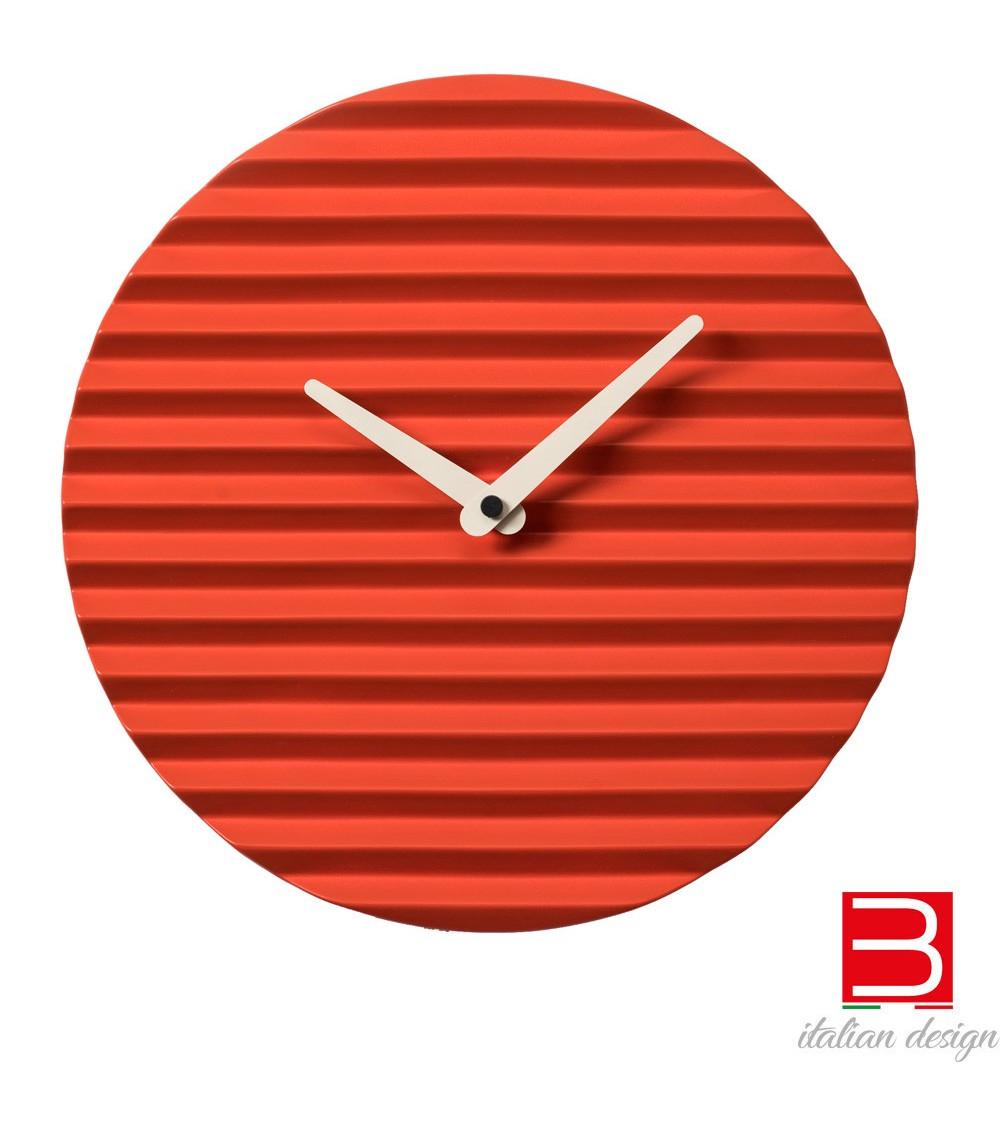 Wall clock Sabrina Fossi Wave Clock red