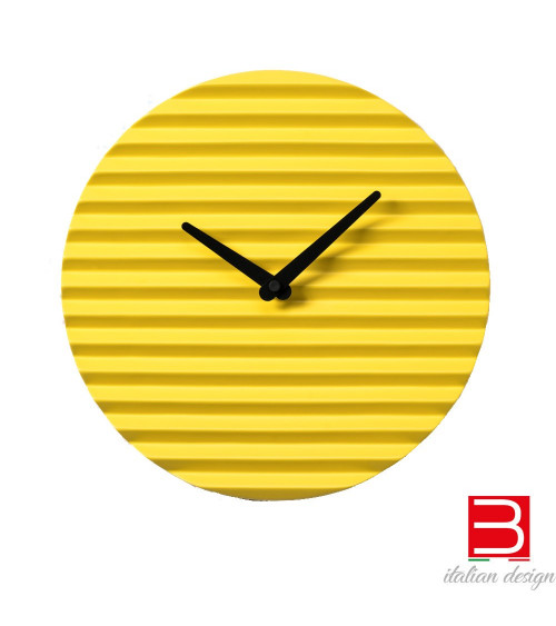 Wall clock Sabrina Fossi Wave Clock yellow