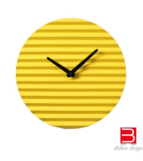 Wanduhr Sabrina Fossi Wave Clock yellow