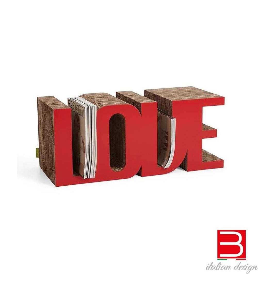 Portariviste rosso Love Kubedesign