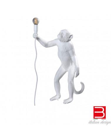 lámpara de pie Seletti Monkey Standing White