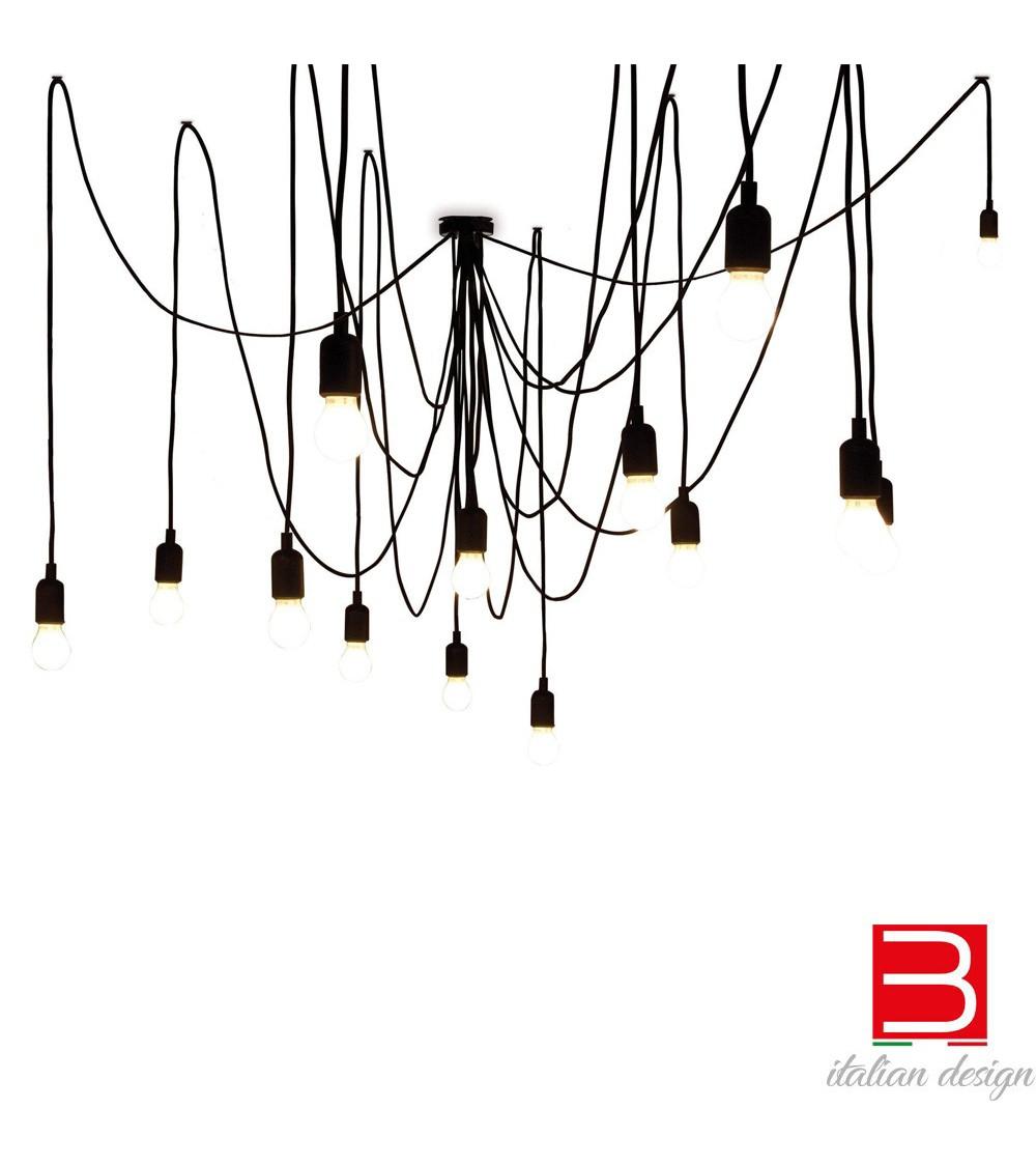 lampadario-design-nero-14-led-seletti-maman