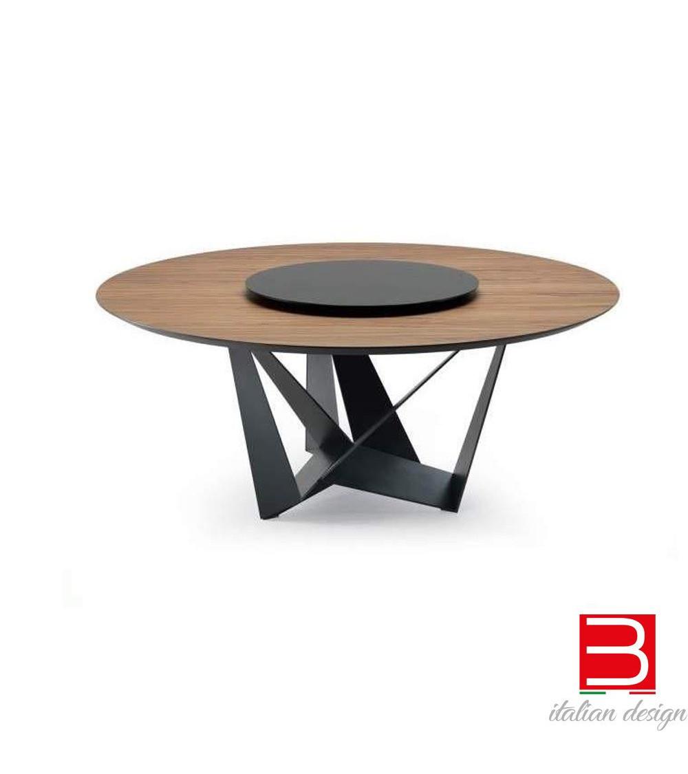 Mesa Cattelan Skorpio Round-tapa de madera