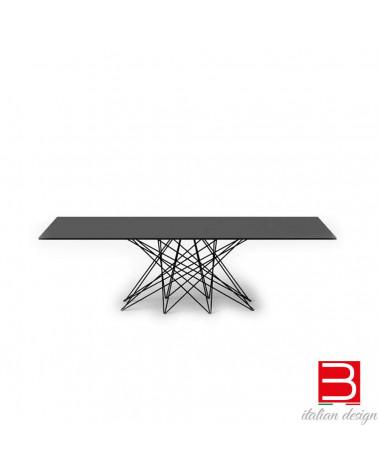 Table Bonaldo Octa pieds chromés/blsck nichel 200 cm x 100x 75h