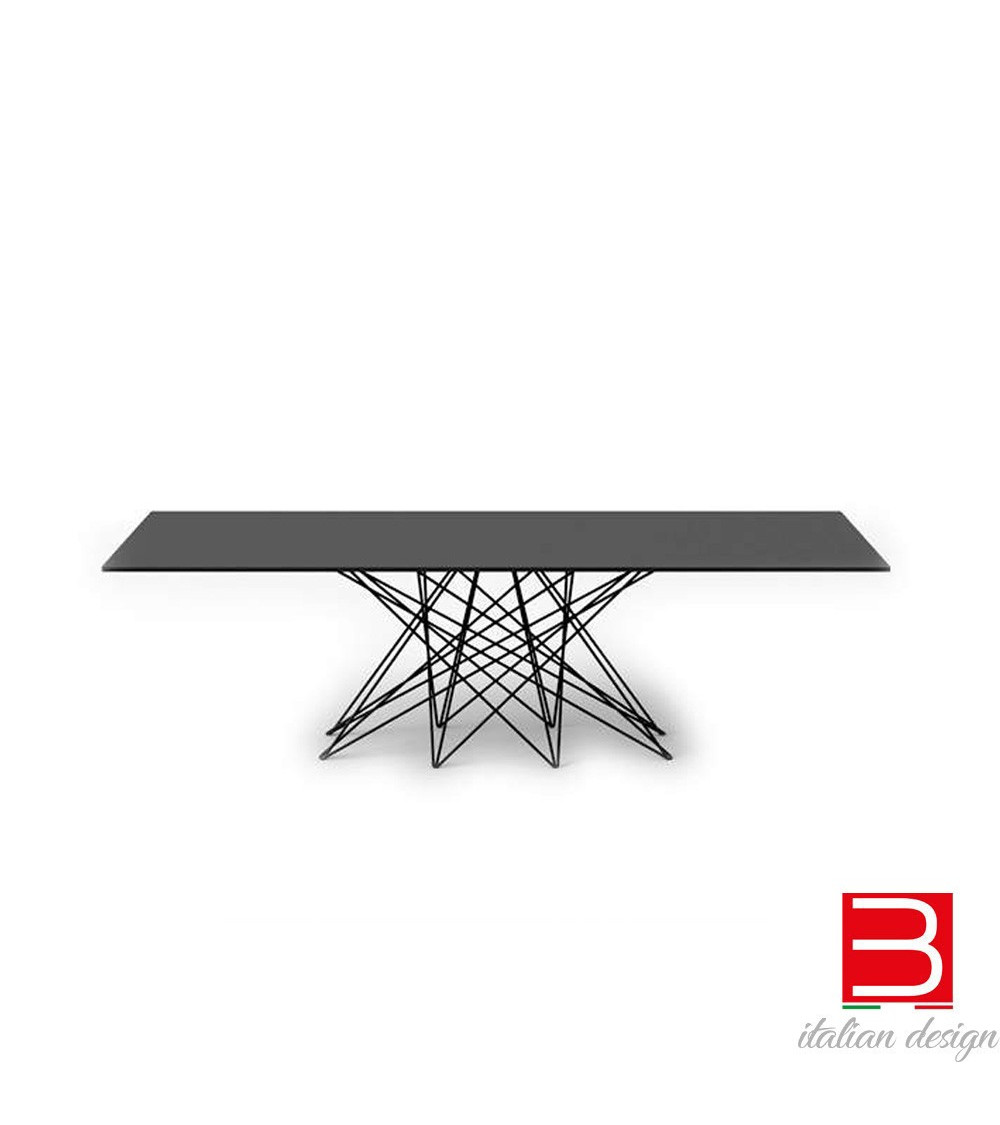 Tisch Bonaldo Octa Chrombeinen/black nichel 250 cm x100x 75