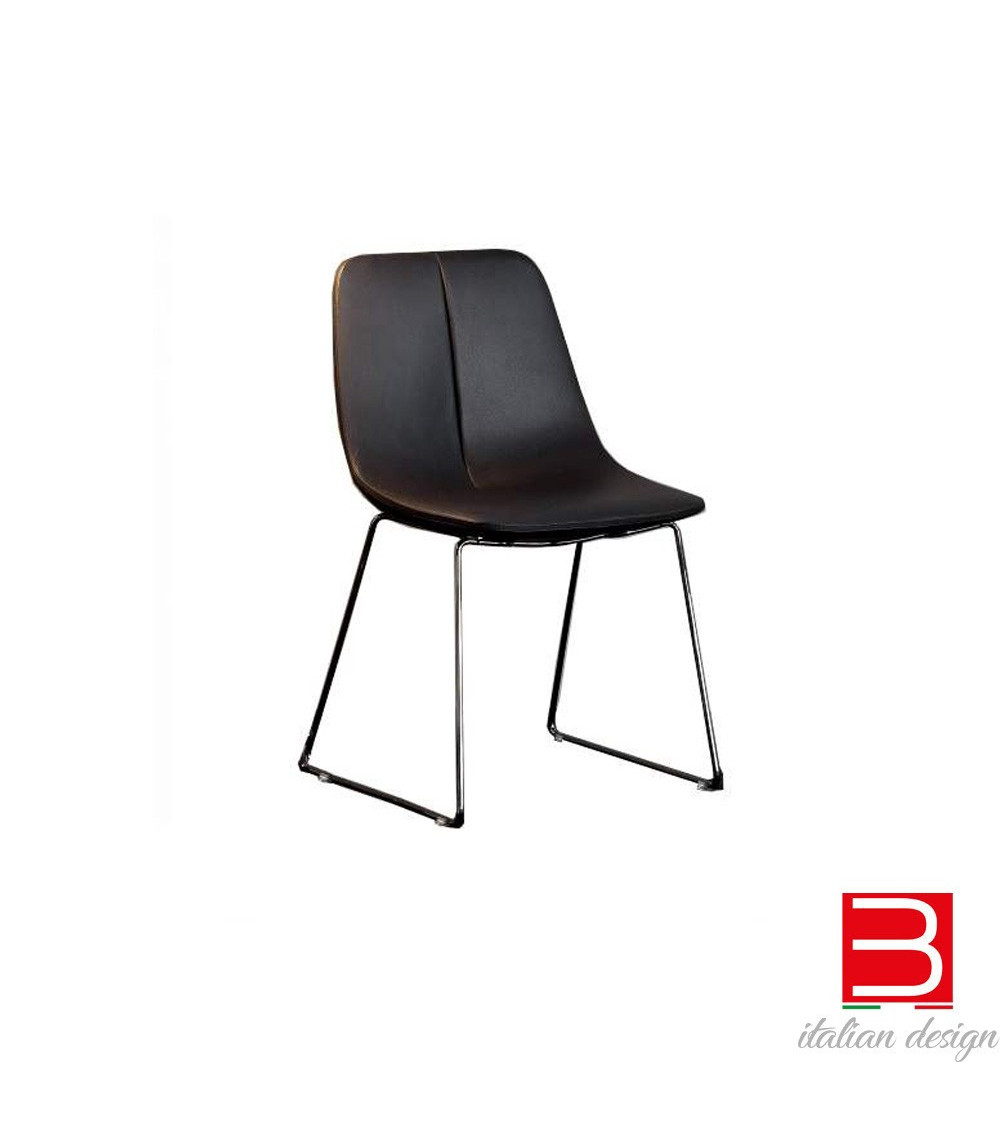 Stuhl Bonaldo By SI Beine aus verchromtem Metall / schwarz vernickelt