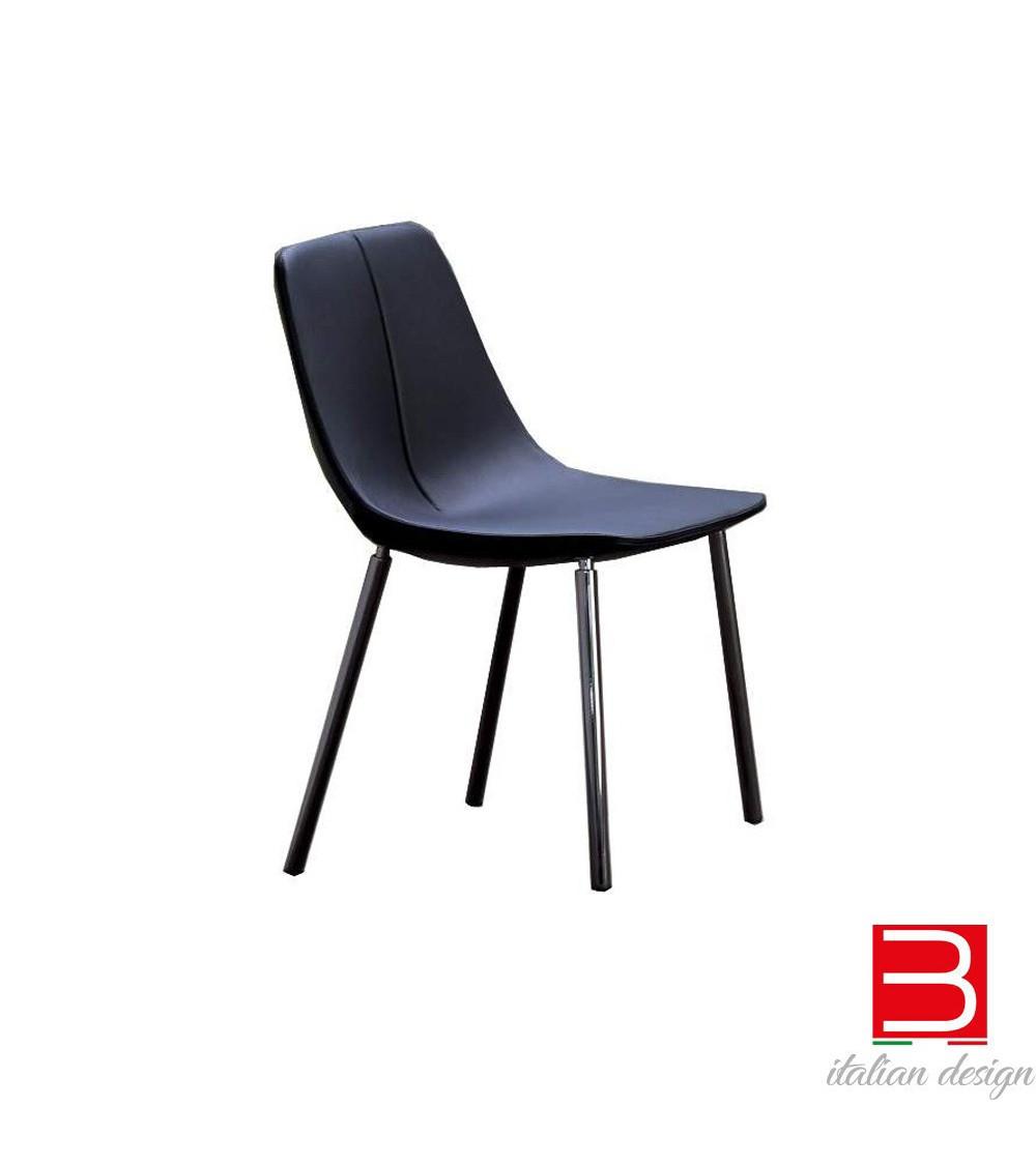 Chair  Bonaldo BY MET -chrome legs / blacknickel