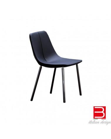 Sedia Bonaldo BY MET con gambe cromate/black nickel