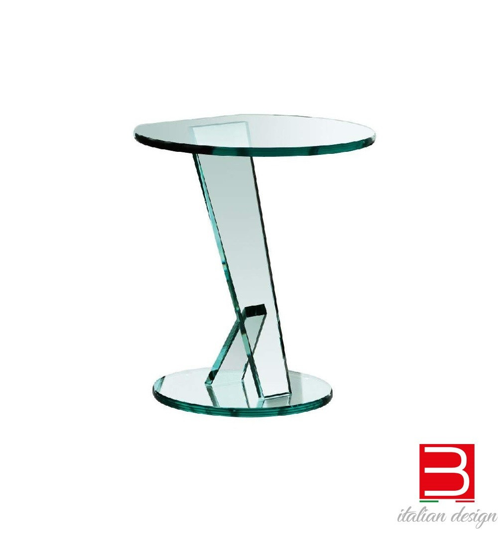 Tavolino in vetro extrachiaro Tonelli Nicchio