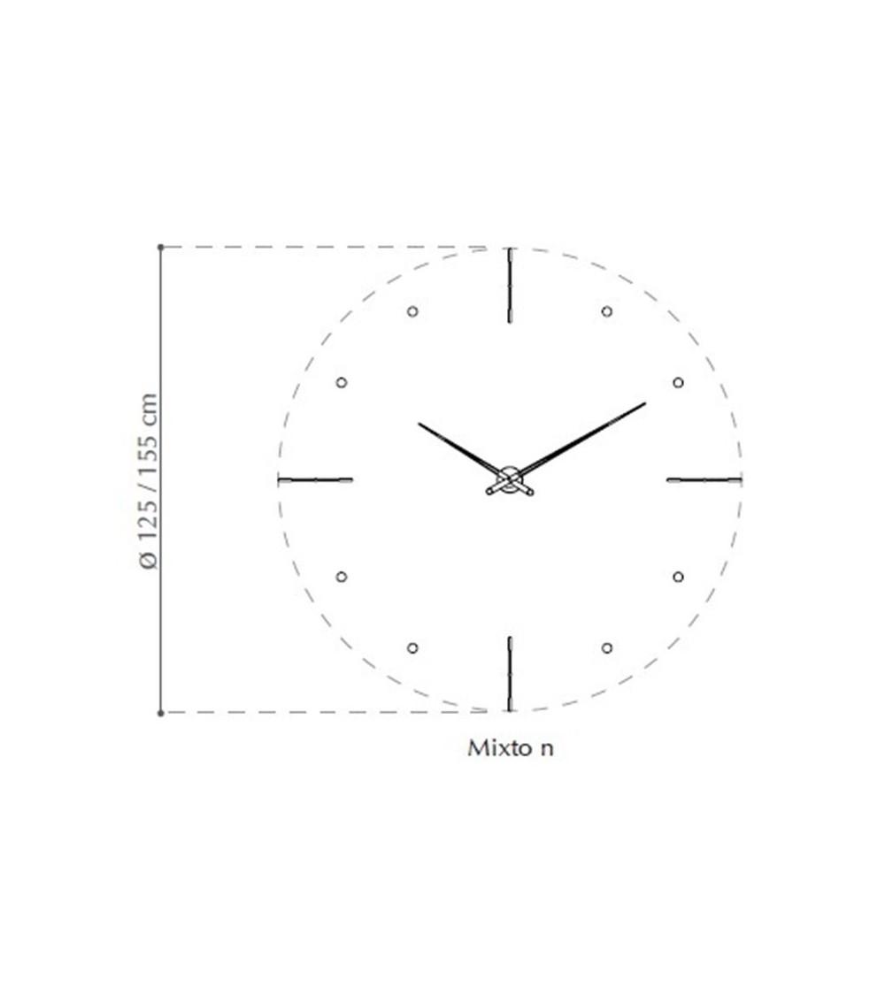 Wall-Mounted clock nomon Mixto n