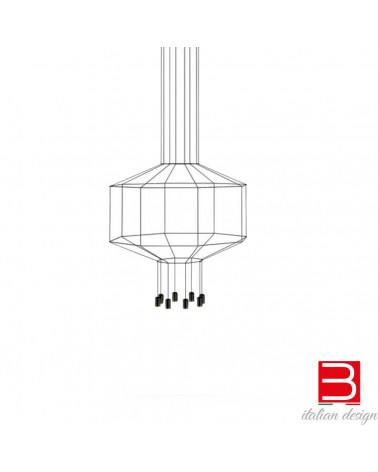 Lámpara pendiente Vibia Wireflow 8 Led