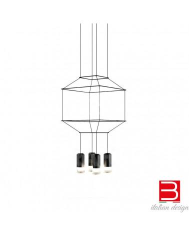 Lámpara pendiente Vibia Wireflow 4Led