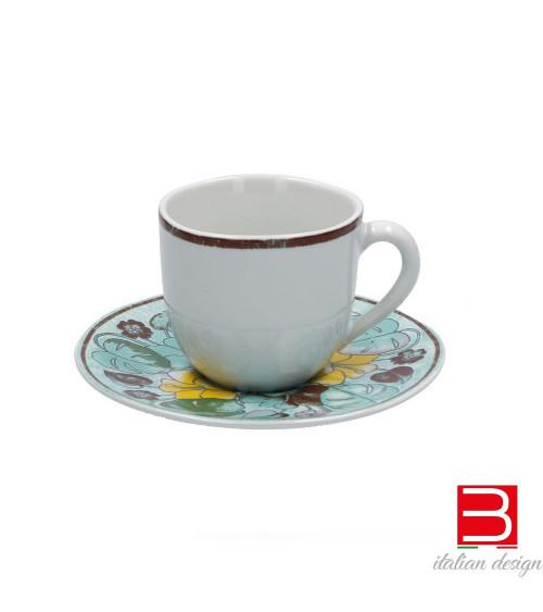 Set Tazze da caffè con piattino Rose&Tulipani Aloha