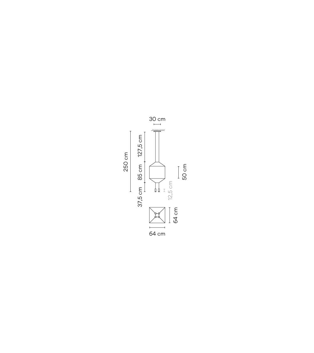 Lampada a Sospensione Vibia Wireflow 4 Led
