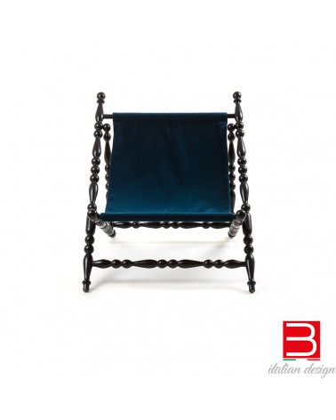 Black folding Deckchair Seletti Heritage
