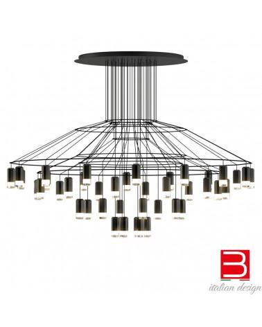 lámpara de suspensión Vibia wireflowChandelier 0376