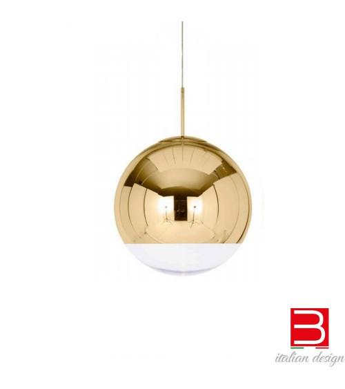 Lampada a sospensione Tom Dixon Mirror ball Gold