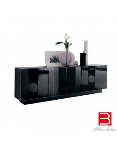 Buffet Cattelan Italia Futura -portes en verre de couleur noire