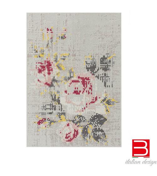 Carpet Gan Canevas Flowers Natural