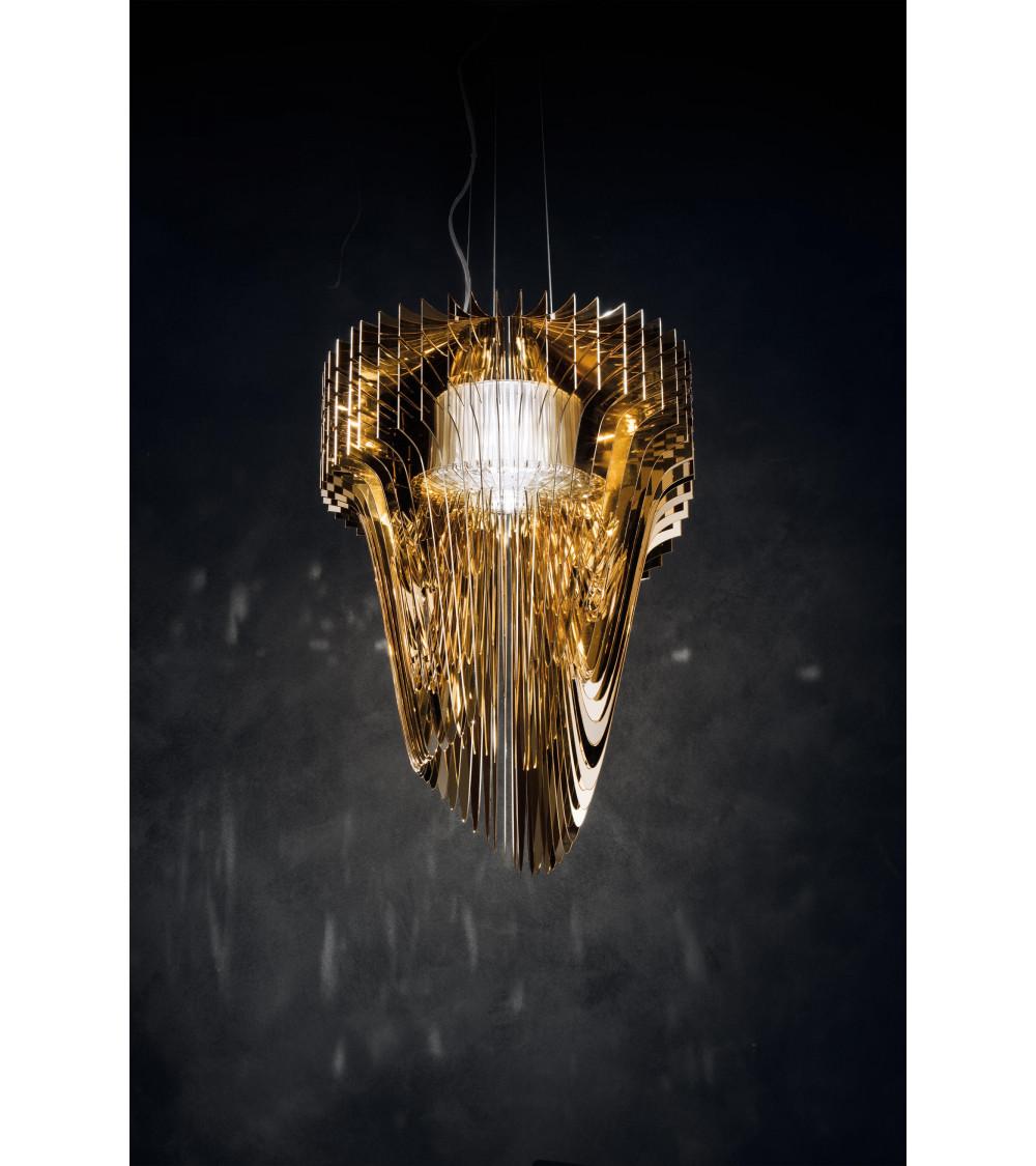 Lampada a sospensione Slamp Aria Gold