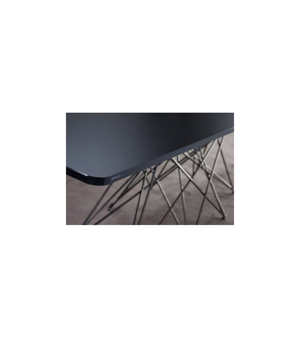 Mesa Bonaldo Octa patas cromadas/black nichel 250 cm x 100 x 75