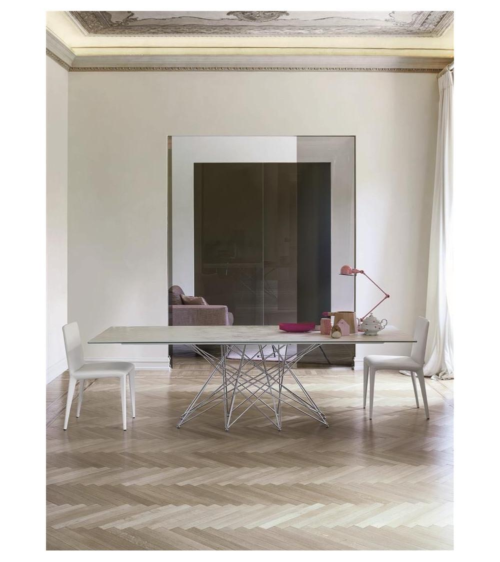 Table Bonaldo Octa chrome legs/black nichel 300 cm x 108 x 75 cm