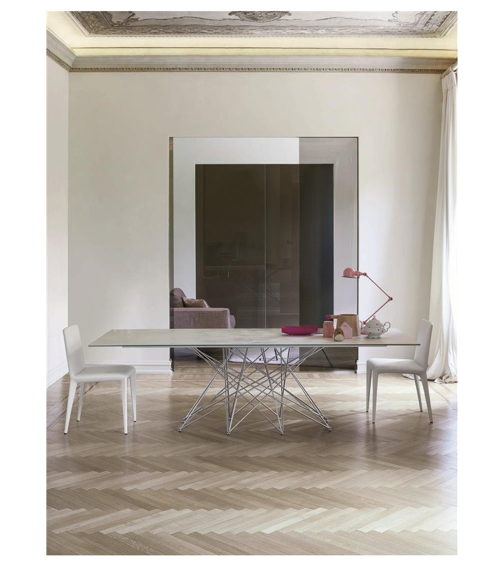 Table Bonaldo Octa pieds chromés/ black nichel 300 cm x 108 x 75 cm