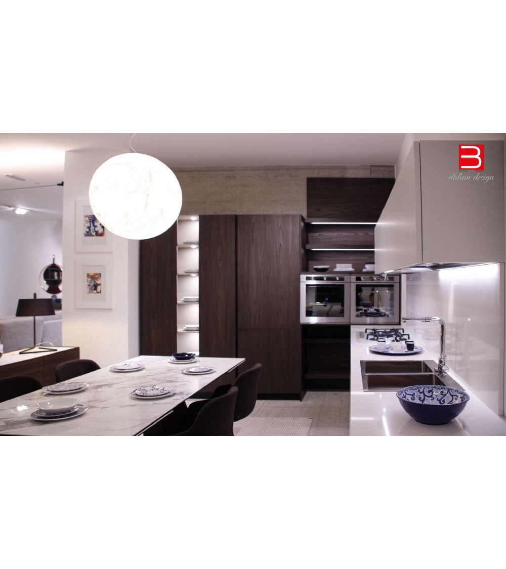 Cucina Doimo Cucine Style Bianco Artico/Noce Caffè