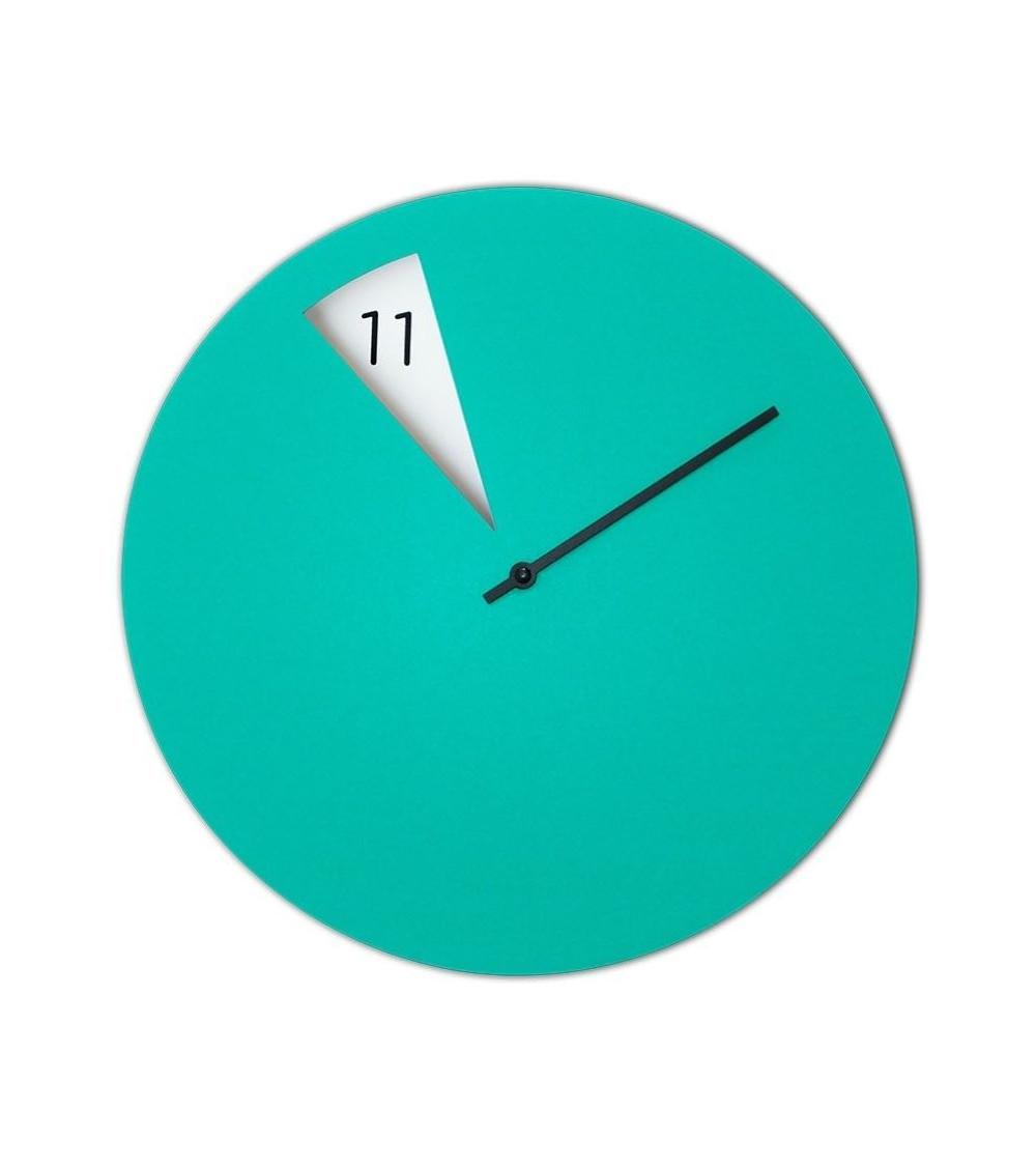 reloj de pared Sabrina Fossi FreakishCLOCK verde