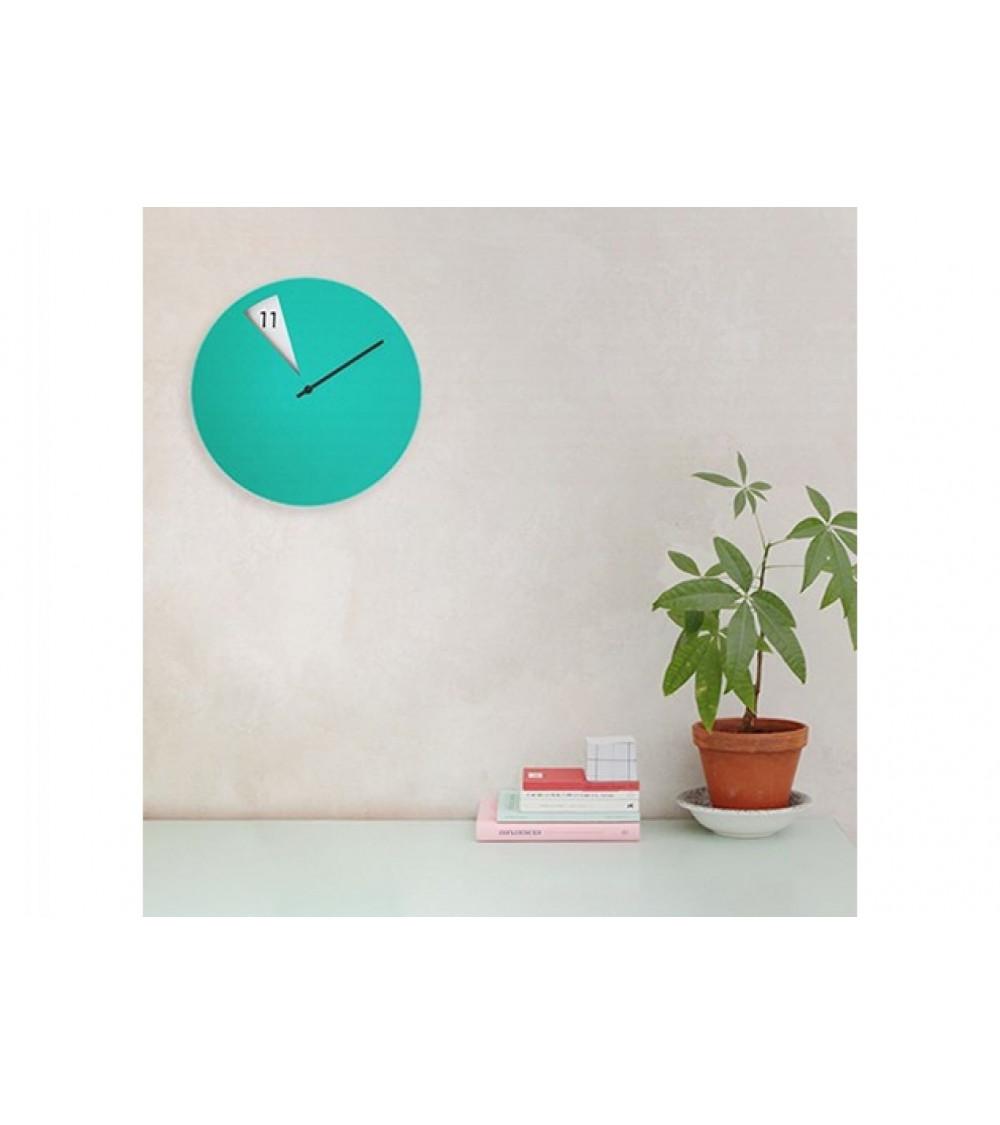 horloge murale Sabrina Fossi FreakishCLOCK vert