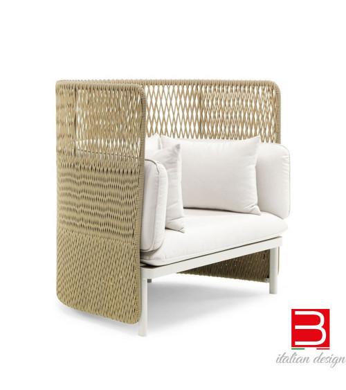 Poltrona lounge con schienale alto Ethimo Esedra