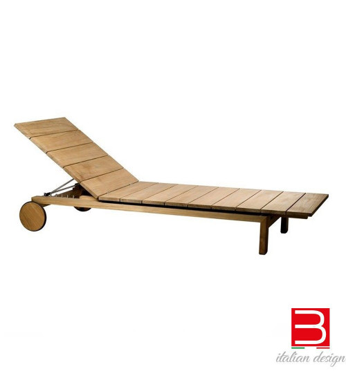 reclining lounger Tribu' Kos Teak