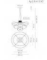 Suspension lamp Axo Light Hoops 3