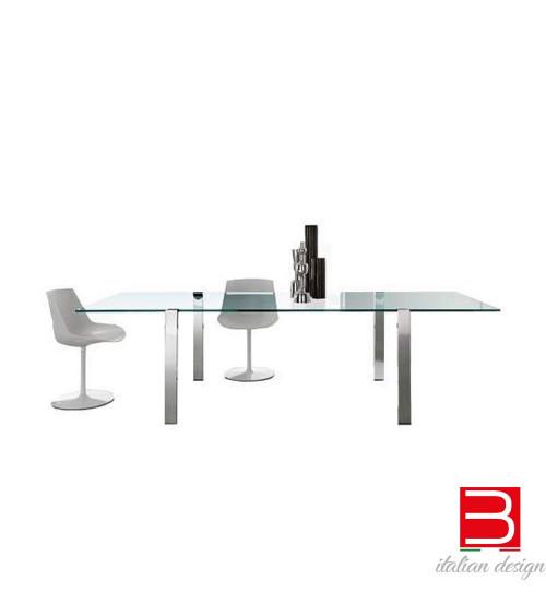 Table Tonelli Livingstand verre transparent
