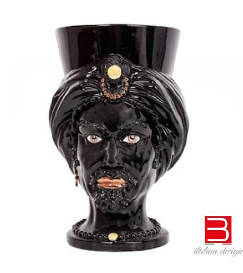 Caltagiron-Keramik Agaren Testa di moro Arabi