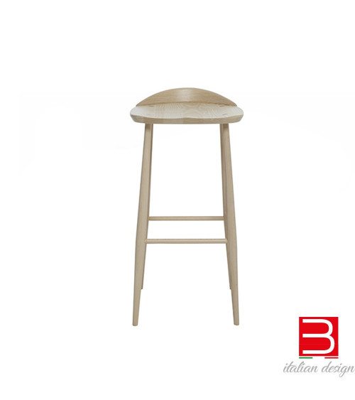 Sgabello Ercol Originals bar stool with back