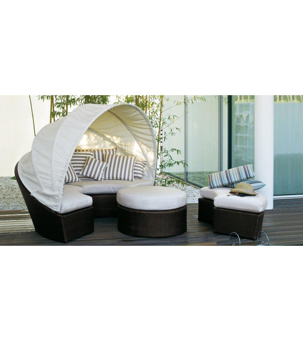 Round sofa with capote Varaschin Arena