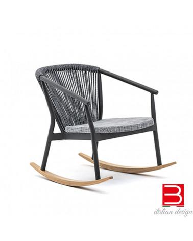 Lounge rocking armchair Varaschin Smart