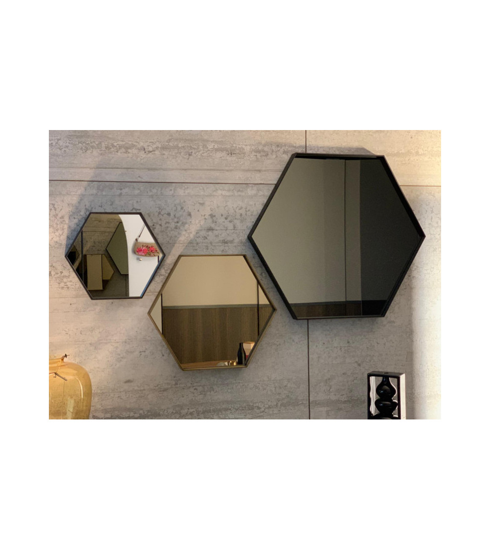 Mirror Sovet Italia Visual Hexagonal 44x38cm