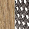 Teak decapato e round rope taupe