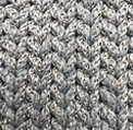 LG 01 light gray mélange crochet