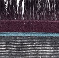EL | 05 dark gray blue and plum fringes
